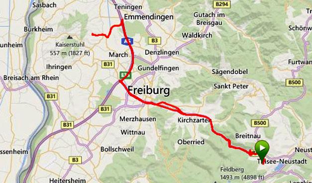20140819 Hinterzarten - Eichstetten køretur