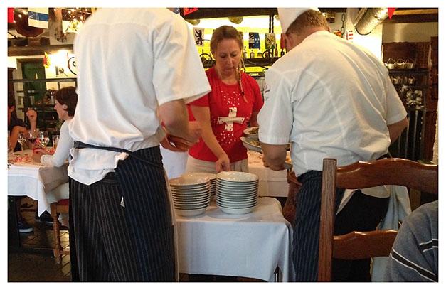 kokken og tjeneren